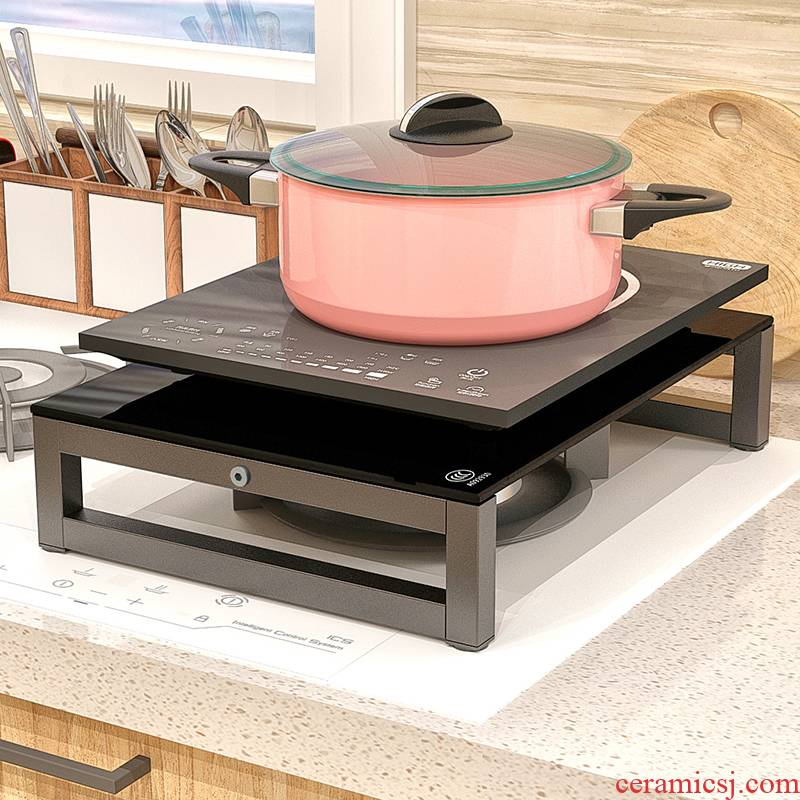 Microwave induction cooker stent kitchen shelf gas integrated electric oven TaoLu pot gas stove cover plate
