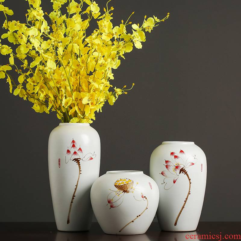 Ceramic vases, I and contracted new Chinese zen household living room table accessories TV ark, dried flower adornment furnishing articles