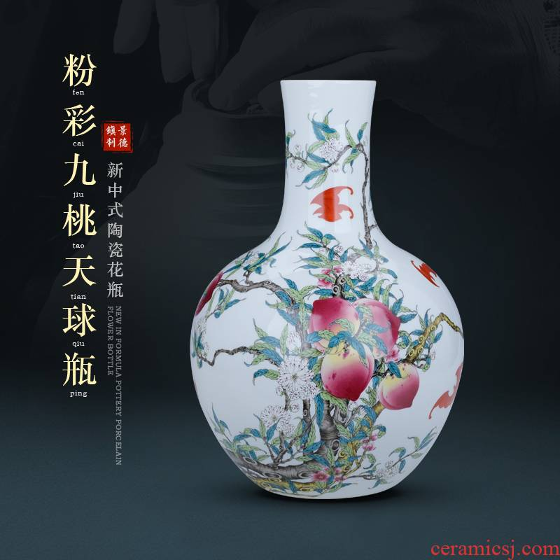 Jingdezhen fine expressions using the long neck antique vase ceramic TV ark, rich ancient frame size, the sitting room porch decorate furnishing articles