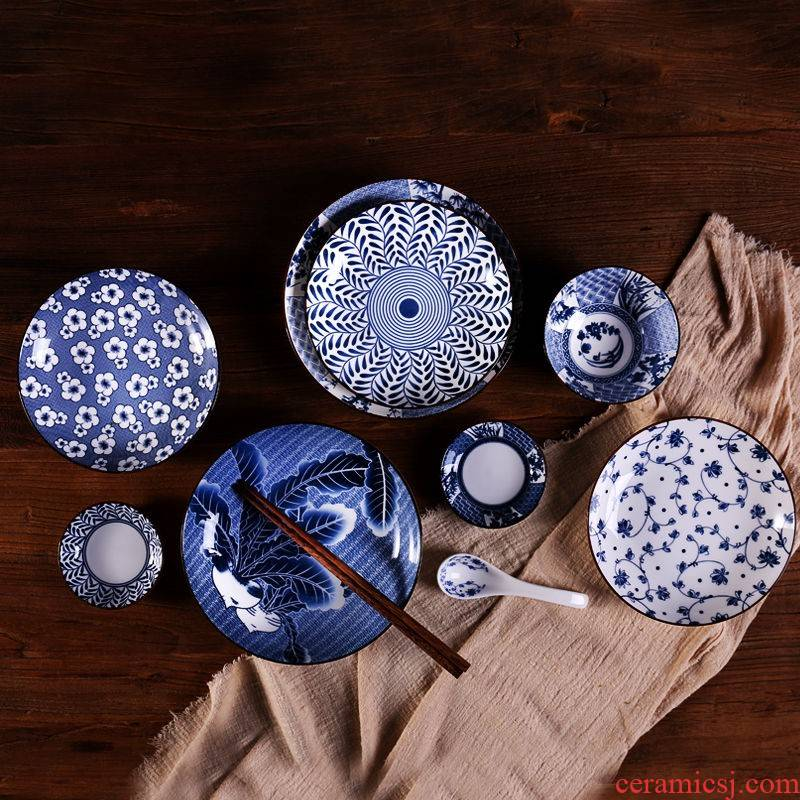 The Japanese kitchen and wind dishes with rainbow such as bowl bowl hand - made tableware ceramic dishes