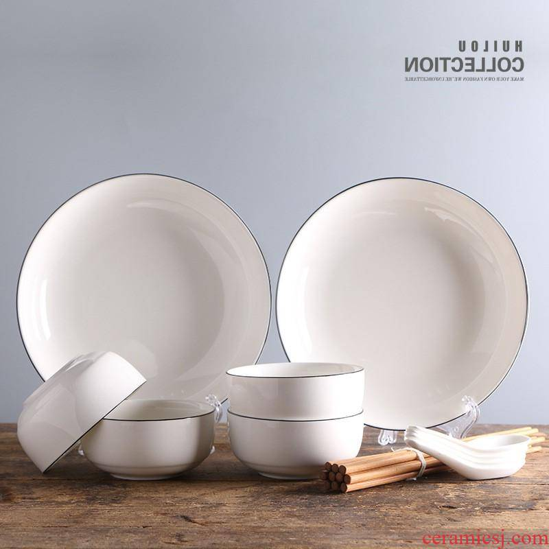 The kitchen, Japan and South Chesapeake tableware contracted household bowls plates tableware ceramics gift set package can be customized LOGO