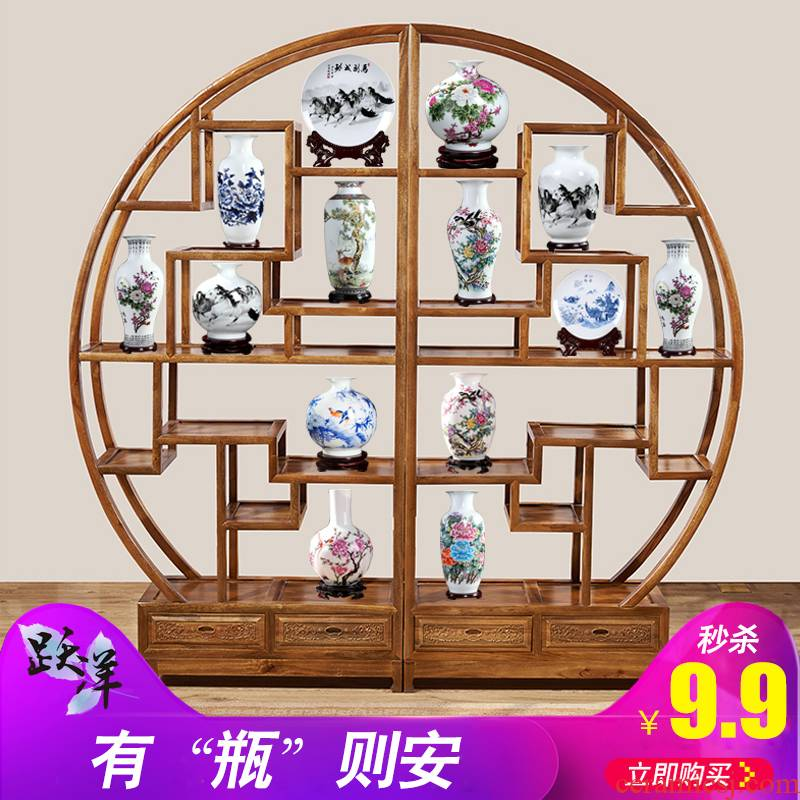 Jingdezhen ceramics vase sitting room office furnishing articles rich ancient frame teahouse antique trinkets, furnishing articles