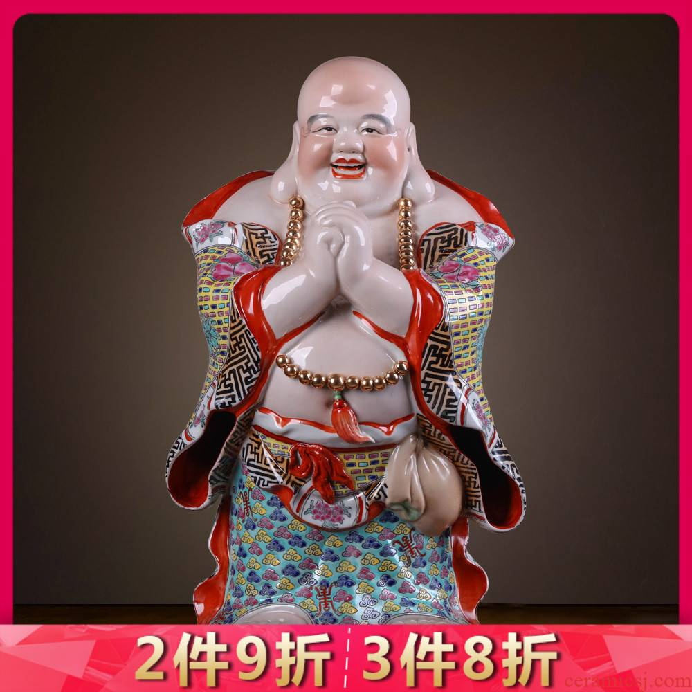 Jingdezhen ceramics from manual its maitreya furnishing articles home sitting room office store opening gifts