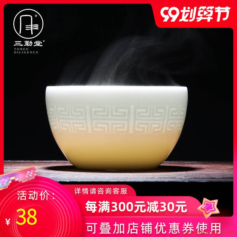 Three frequently hall sample tea cup of jingdezhen ceramic cups kung fu tea masters cup SQT000638 personal single CPU