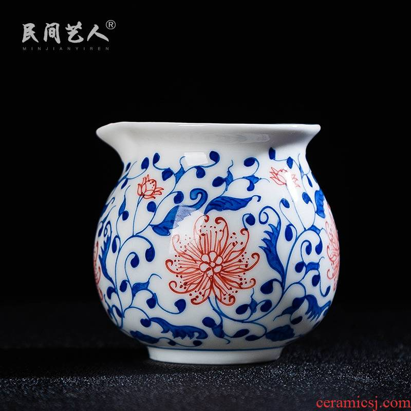 Jingdezhen blue and white porcelain ceramic fair keller of tea accessories and tea cup and cup points) a cup of tea