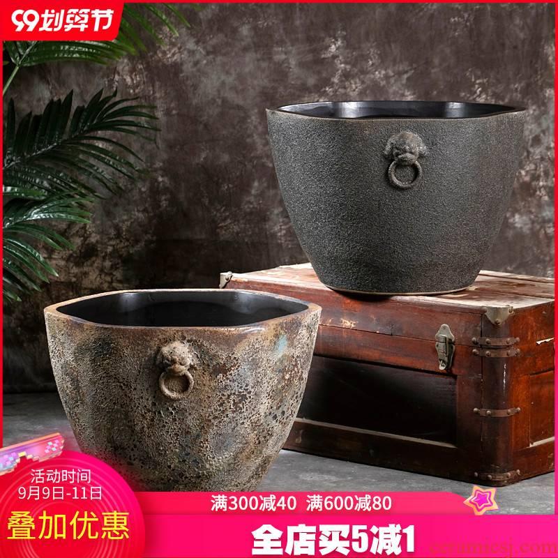 Jingdezhen ceramics goldfish bowl restoring ancient ways to raise water lily lotus bonsai garden is suing furnishing articles oversized living room