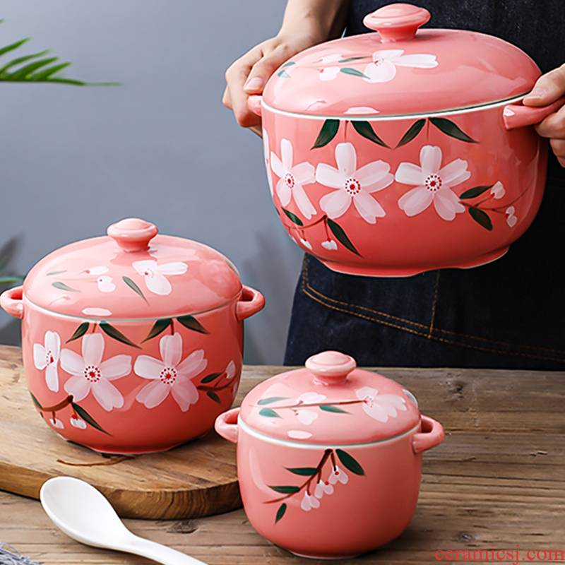 Ceramics with cover with as the high - temperature household kitchen pepper oil tank salt pot seasoning to taste pepper pot
