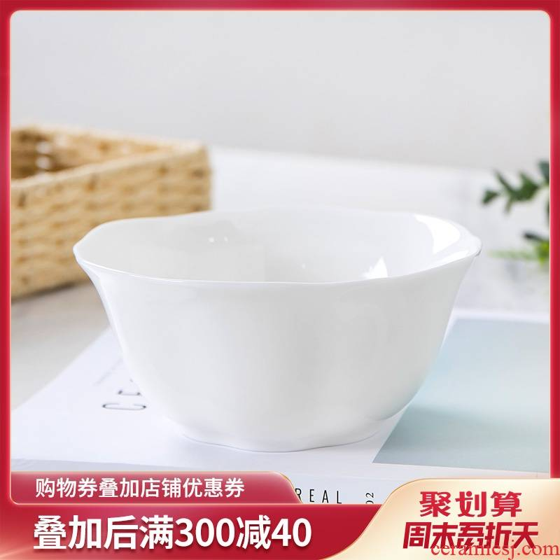Single white ipads China bowl bowls hotel with ceramic bowl with a large mercifully rainbow such as bowl bowl of soup pot is grim side dishes