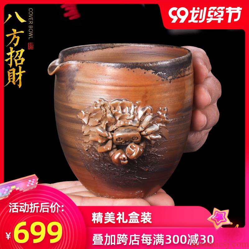 Artisan fairy archaize firewood ceramics fair keller household pure manual kung fu tea set creative move tea sea points