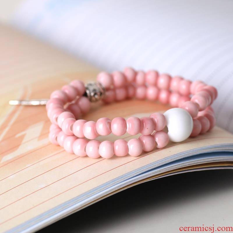 QingGe new the original ceramic jewelry jingdezhen traditional ceramic bead bracelet bracelet porcelain decoration market. I sources