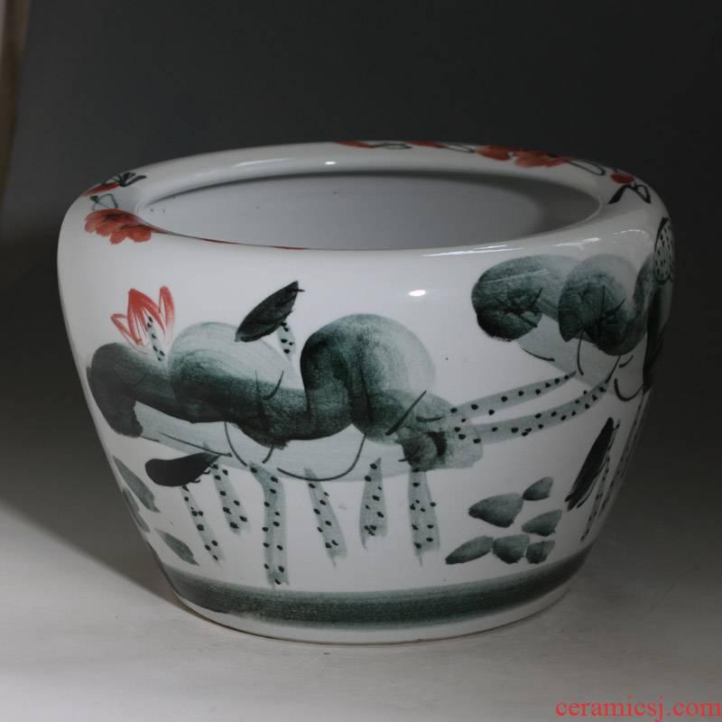 Jingdezhen 40/50 cm diameter hand made lotus China VAT courtyard courtyard raised fish pond lily China VAT