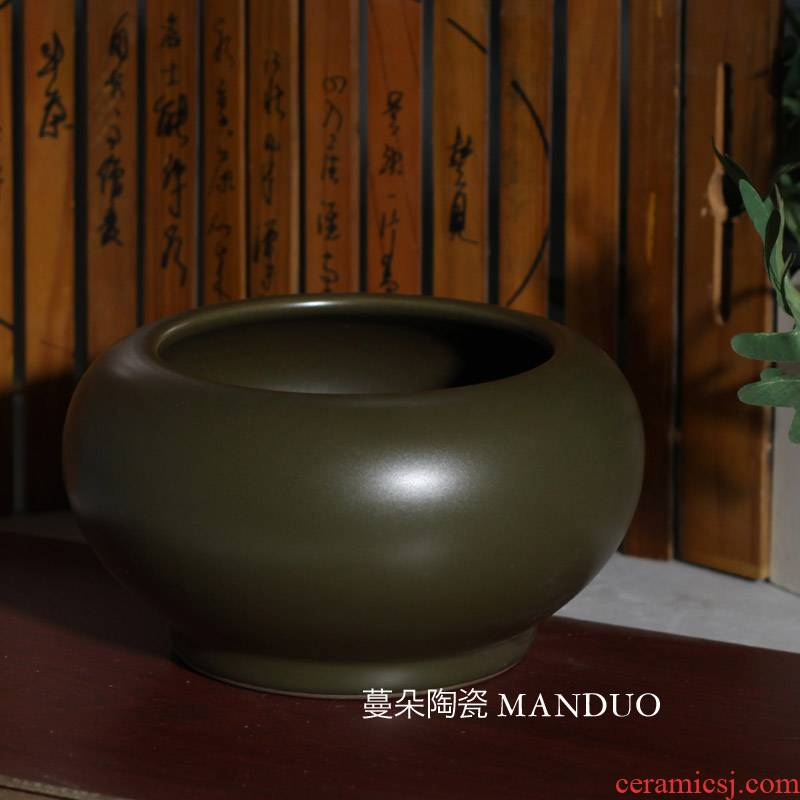 Jingdezhen classical ancient writing brush washer refers to flower pot flowers flower shallow porcelain basin classical porcelain basin water is shallow