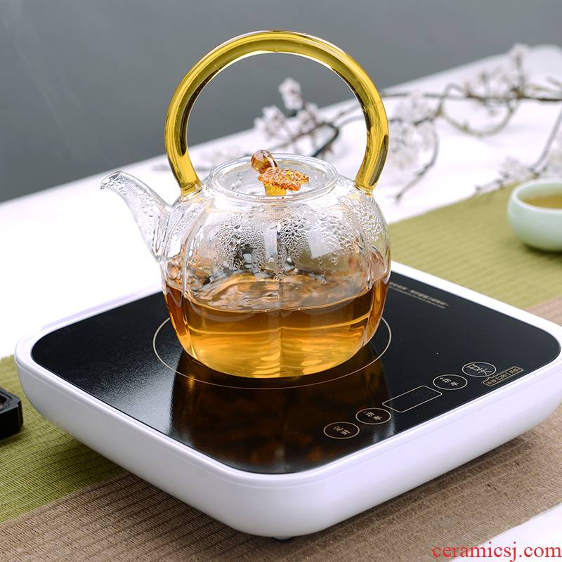 Electric touch the floor clearance 】 【 TaoLu kettle boil tea thickening refractory glass flower pot teapot