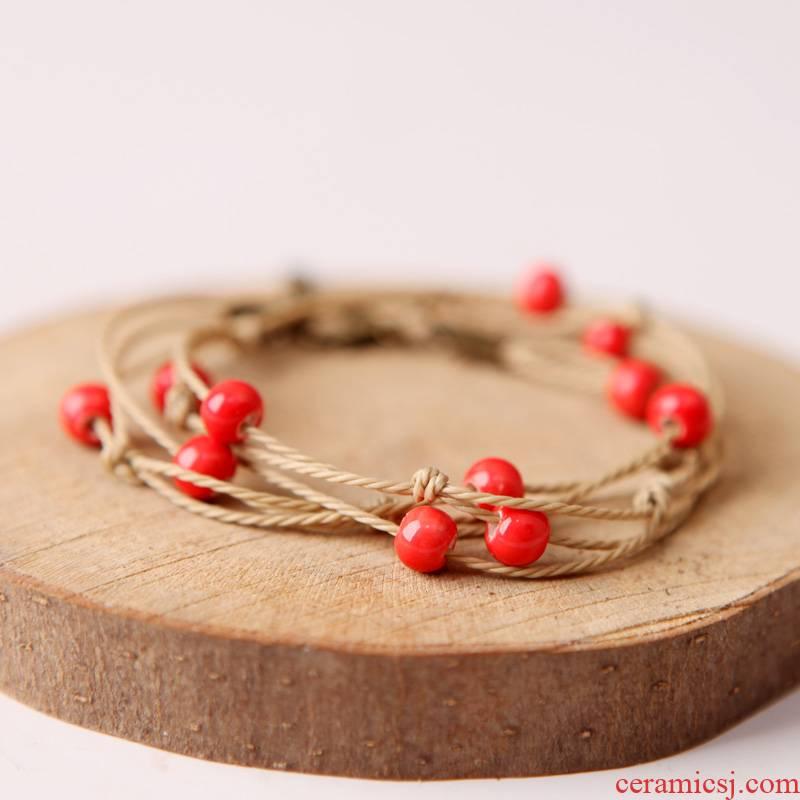 QingGe jingdezhen ceramic beads bracelet stars send girlfriends ceramic jewelry booth in supply