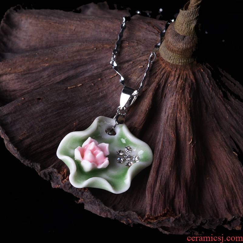 QingGe manual the original jingdezhen ceramic pendants demand quietly elegant necklace fashion jewelry market. I sources