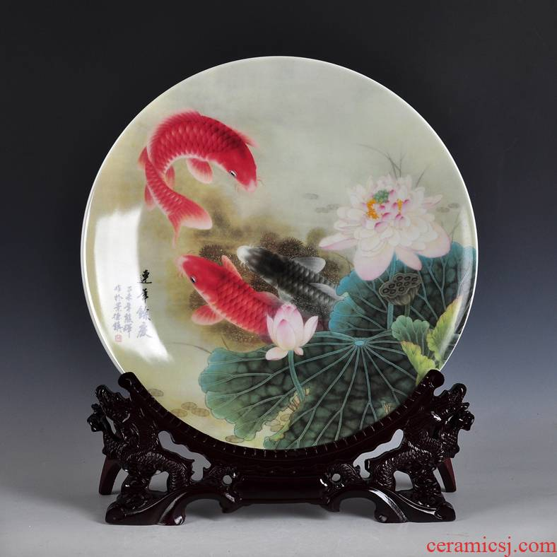 Plate ceramics sitting room sat dish furnishing articles decorations household act the role ofing is tasted hotel office decoration housewarming gift