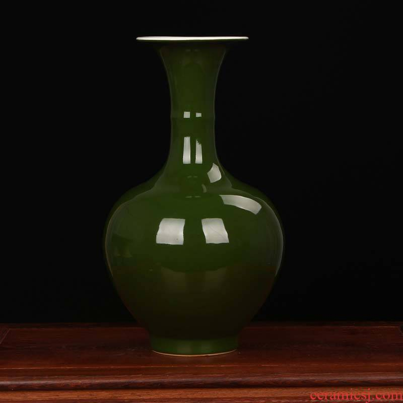 Jingdezhen porcelain factory founding color glaze ceramics factory goods, green glaze vase modern Chinese style household decoration furnishing articles