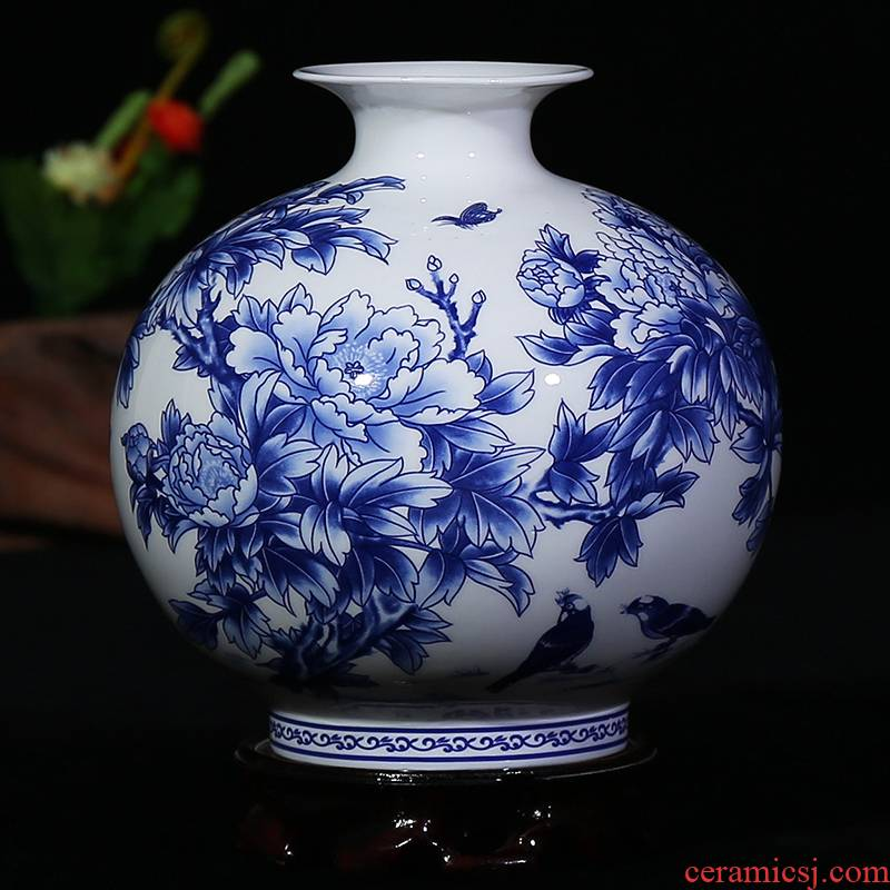 Jingdezhen ceramics ipads in porcelain vase glair contracted sitting room place, modern household gift ornament