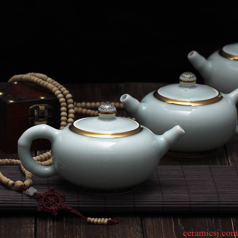 Red xin an inset jades xi shi pot all hand tea set ceramic teapot koti up celadon kung fu personal teapot
