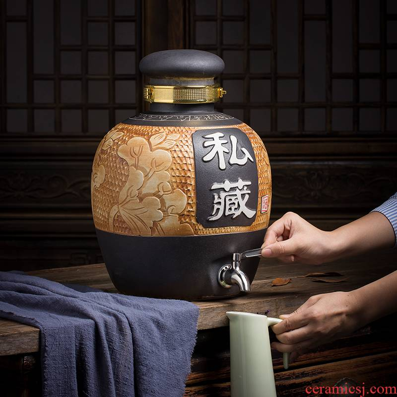 Clearance!!!!!! Jingdezhen ceramic household Chinese style restoring ancient ways bottle wine liquor wine jar it wine bottle wine