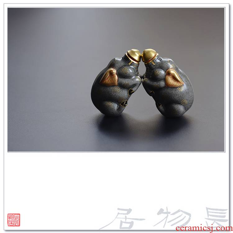 View the see colour of snuff bottles, pig taste pure hand - made color ink jingdezhen manual imitation antique four play