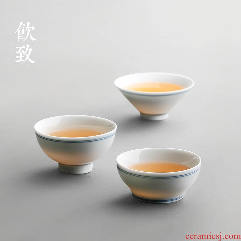 Drinking to a single cups of jingdezhen ceramic kung fu xuan wen sample tea cup personal hat to master cup cup by hand
