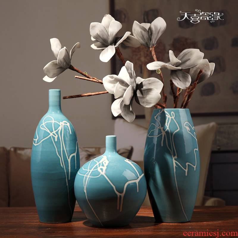 I and contracted household adornment of the sitting room TV ark, wine furnishing articles creative ceramic table vases, arts and crafts