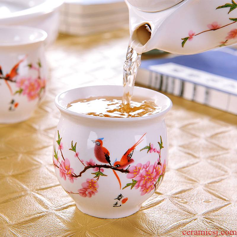 A single master of jingdezhen ceramic cups kung fu tea set suit household contracted double insulation cup tea cup