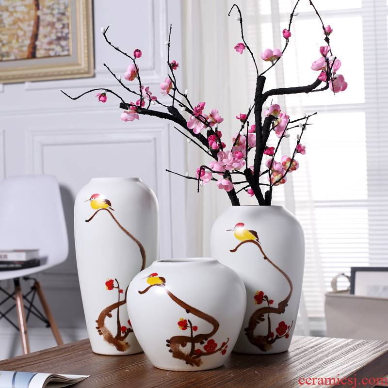 Modern new Chinese style ceramic vase furnishing articles creative living room TV cabinet wine porch flower arranging, home decoration