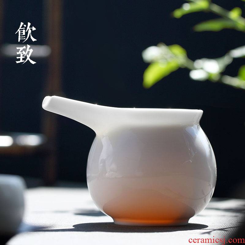 Ultimately responds fair to dehua white porcelain tea cups of tea a single manual large portion ceramic cups and cup of tea