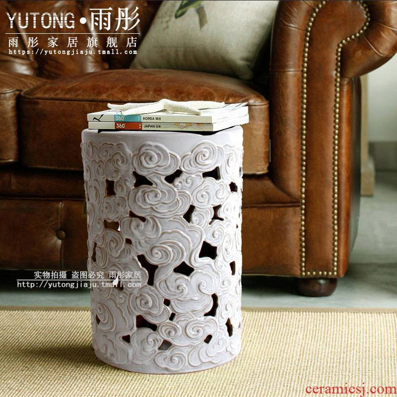 Bai Seyun hollow drum who blue who contracted household vogue style ceramic who household act the role ofing is tasted