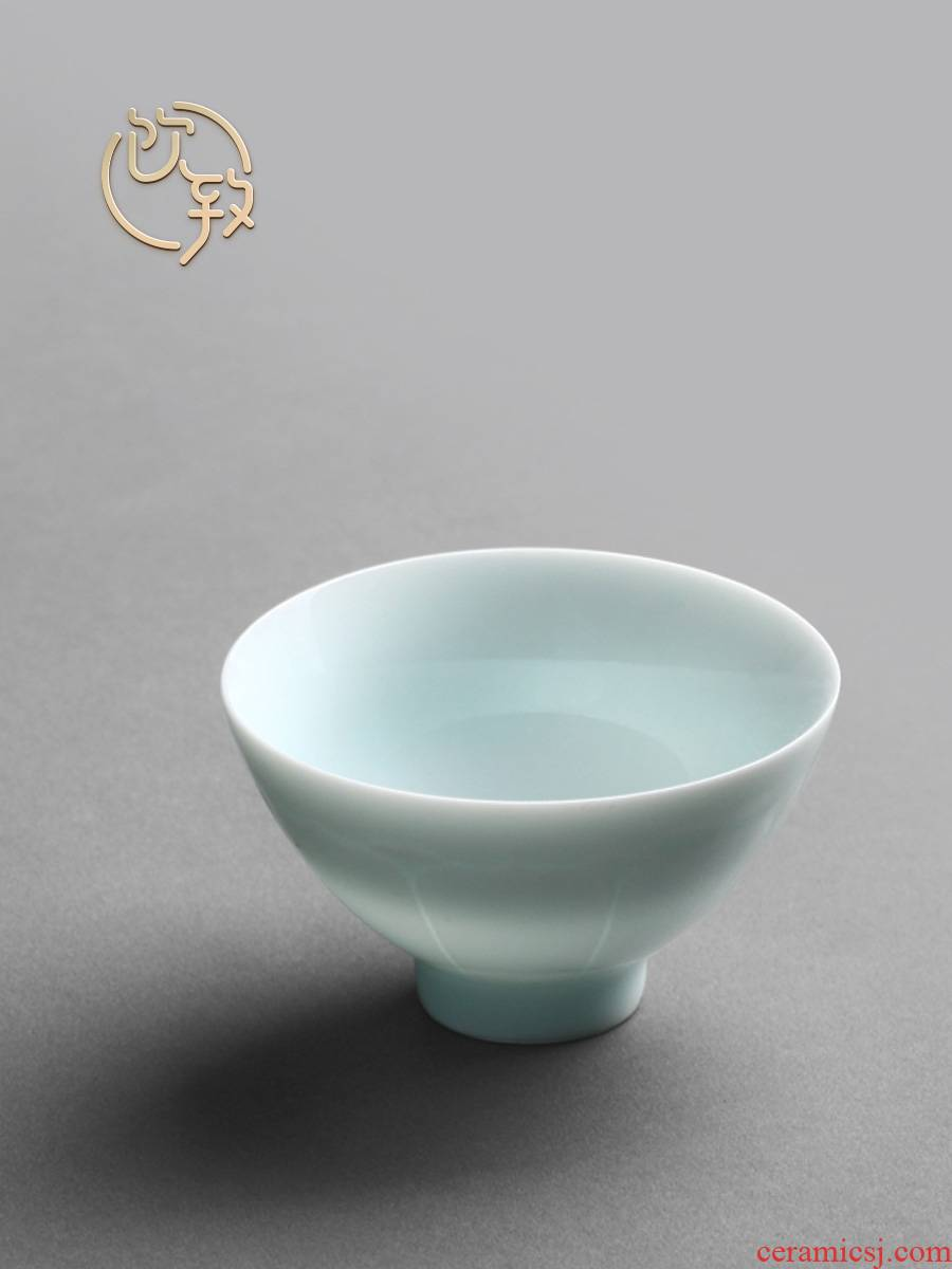 Ultimately responds to shadow celadon jingdezhen small ceramic sample tea cup kung fu tea cups a single master cup single cup bowl