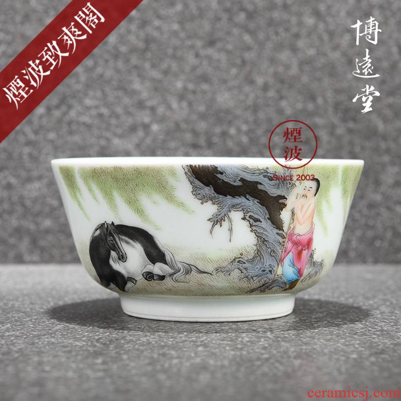 Those jingdezhen bo far hall hand - made famille rose porcelain bo far collection MuMaTu pressure hand a cup of tea cups