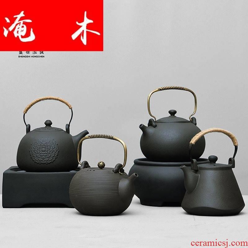 Submerged wood Japanese stone clay POTS TaoLu boiled tea machine large kettle tea stove ceramic teapot tea set volcano