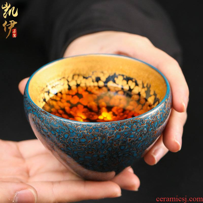 Gold 24 k Gold big lamp cup sample tea cup all hand up ceramic cup of kung fu tea cups large master CPU