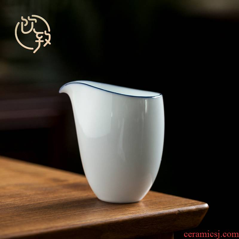 Ultimately responds to jingdezhen sweet Bai Dagong town manual white porcelain cup points of tea ware ceramic tea sea fair kung fu tea cup