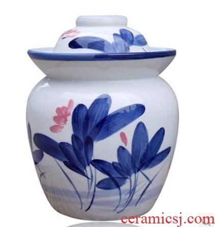 8 jin jingdezhen ceramic pickle jar sealed as cans bacon pickles pickled altar salted egg storage canister ceramic altar