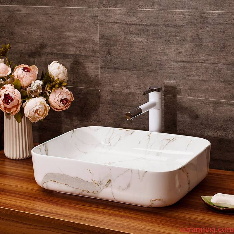 The stage basin art ceramic lavabo for wash basin water drainage basin suit hotel multipurpose European stage basin