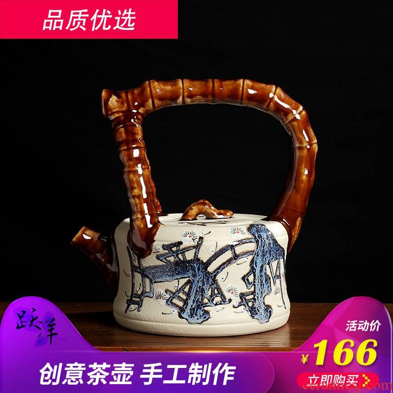 Creative tea zen furnishing articles of jingdezhen ceramics antique Chinese style rich ancient frame wine sitting room adornment handicraft