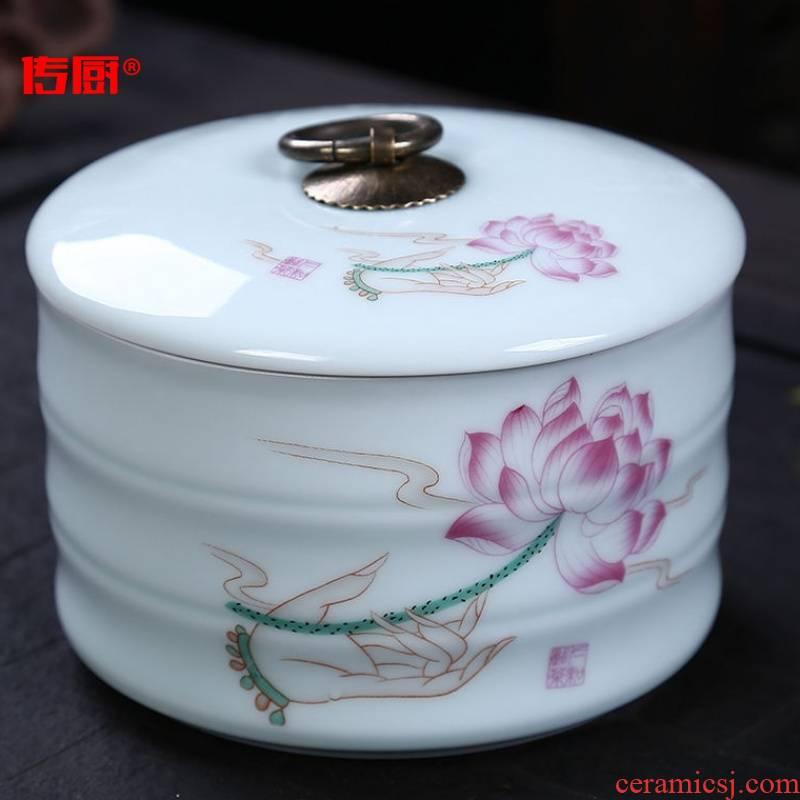 The kitchen ceramic medium large caddy fixings seal storage tank storage puer tea warehouse tea boxes tea urn red green tea