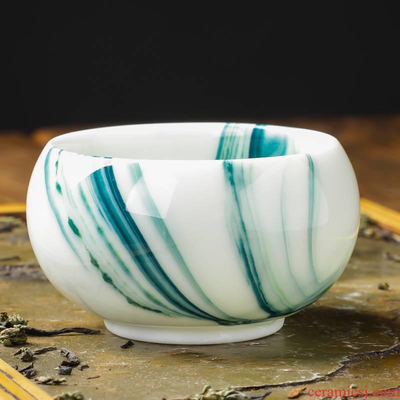 Ice crack creative move jingdezhen up ceramic cups water cup kung fu tea master cup single CPU