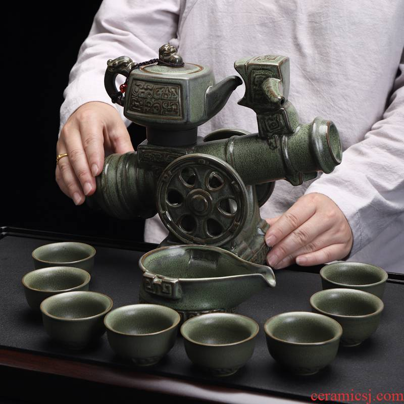 Recreational product automatic kung fu tea set fit office household ceramic tea cups of a complete set of tea sets