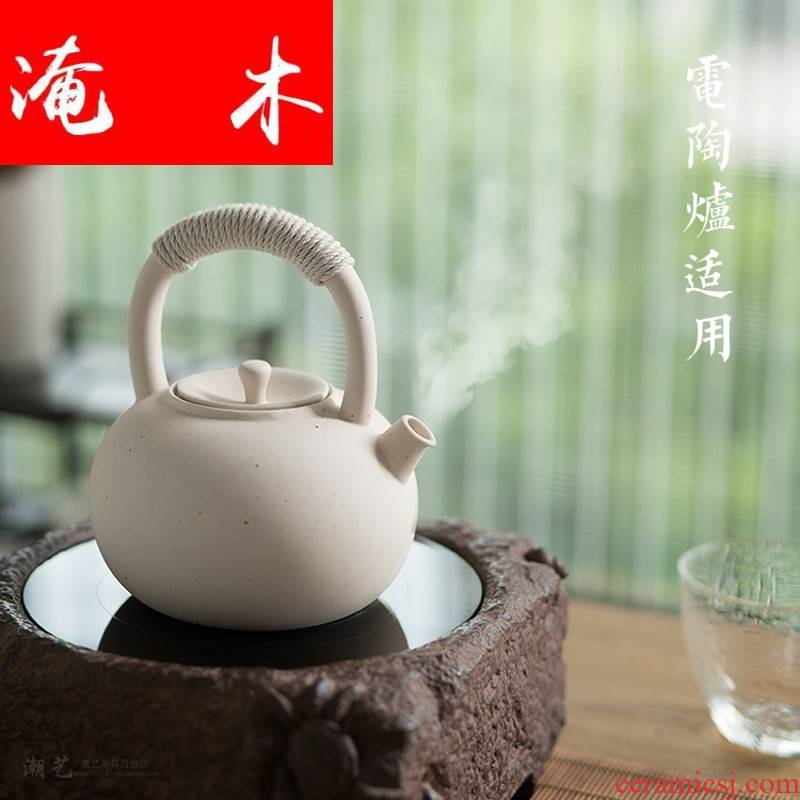 Flooded wooden Japanese white clay crude ceramic sand Diao girder teapot tea stove regimen charcoal stove the boiled tea, the electric TaoLu burn