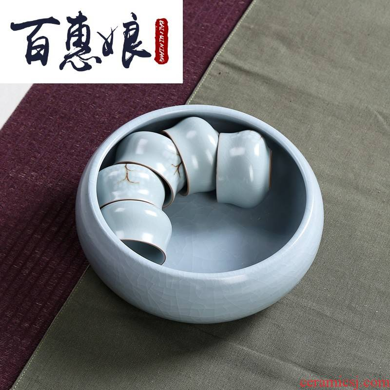 (mother wash your up large piece of open water jar tea and kung fu tea set spare parts Japanese ceramic office restoring ancient ways