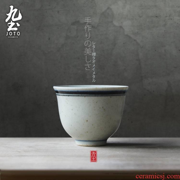 Jingdezhen ceramic tea set copy hand - made porcelain of Ming dynasty nine soil sample tea cup retro imitation Ming kung fu tea cup