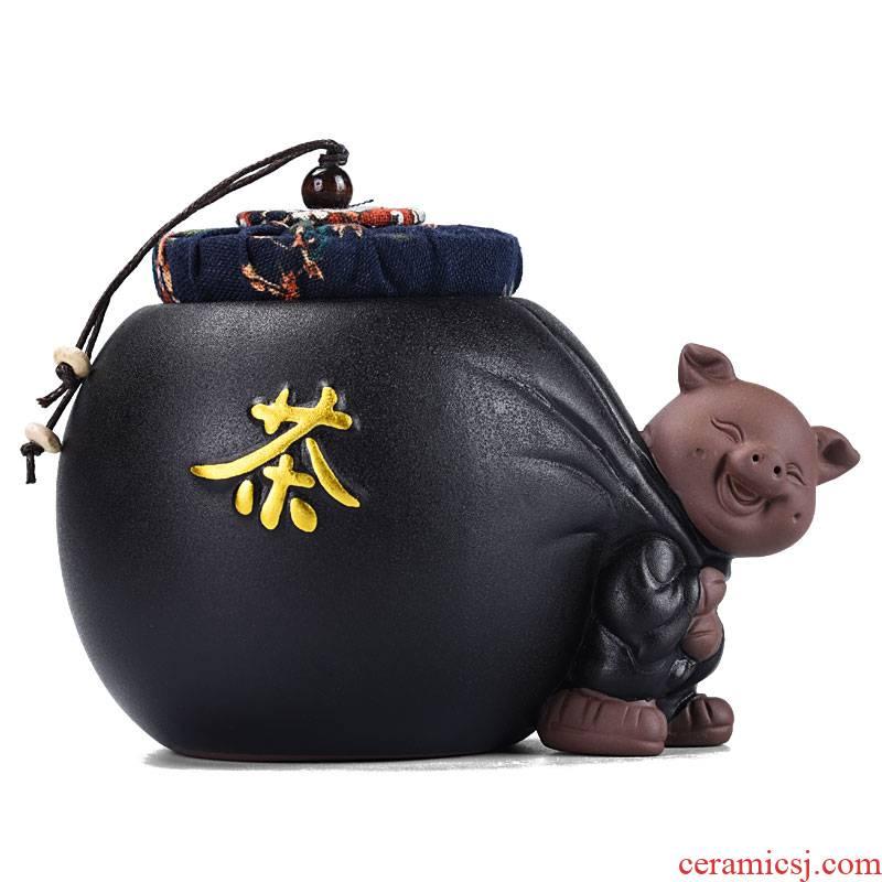Shadow enjoy lovely sealed ceramic tea pot pot moistureproof agent purple sand POTS kung fu tea tea accessories