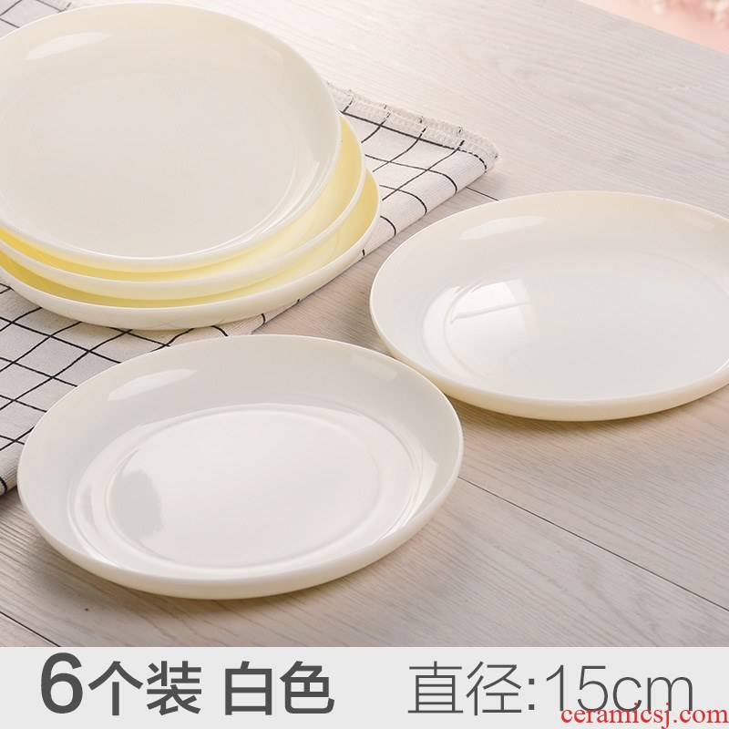 The Six imitation ceramic painting palette watercolor small dish plate plastic disc ink ink pond water dish ll China