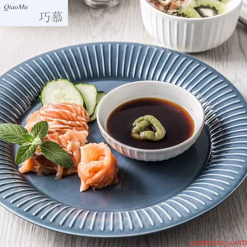 Qiam qiao mu sauce household ceramic dish flavor dish dish of soy sauce dish vinegar sauce dish snacks disc dip disc