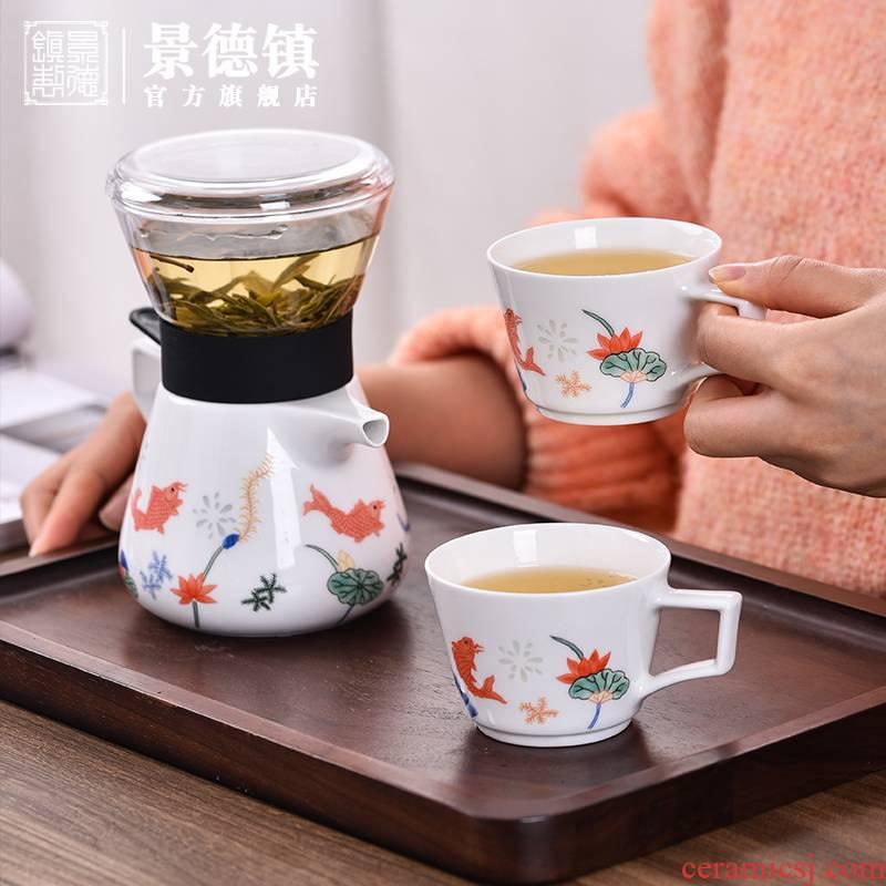 Jingdezhen flagship store of ceramic tea set office teapot teacup high temperature ceramic porcelain gift gift box