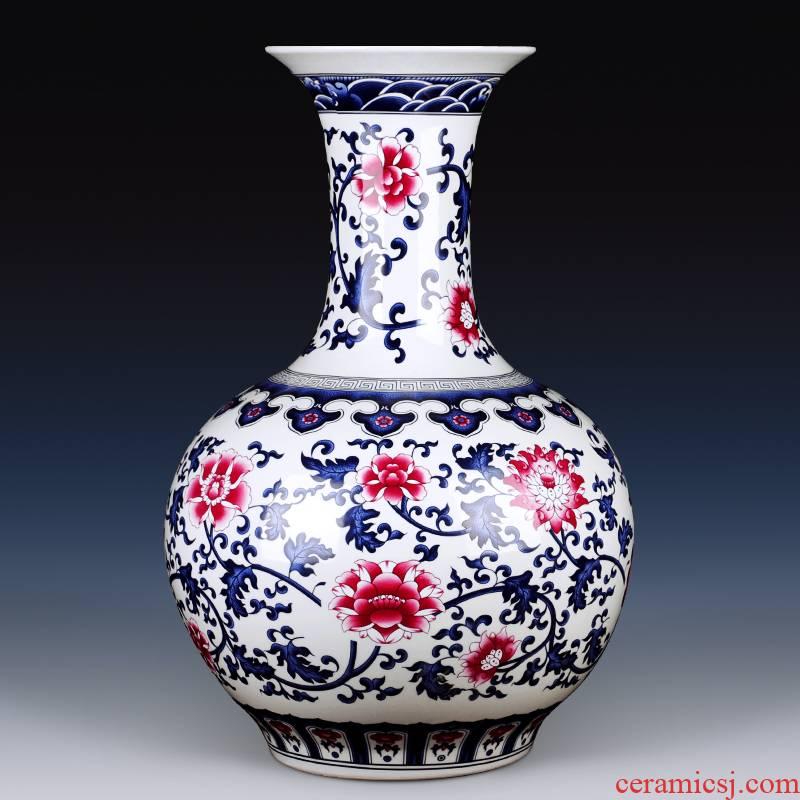 Antique vase of jingdezhen ceramics youligong tangled branches mesa adornment design home sitting room study furnishing articles